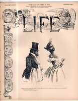 1899 Life October 5 - Dreyfus is Pardoned; War with the Boers; America's Cup