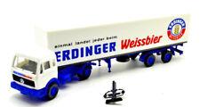 Roskopf 1:87  Mercedes-Benz 1217 LS  Getränkekoffer-Sattelzug/Erdinger Weissbier