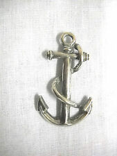 NEW SAILBOAT ANCHOR BOAT ANCHOR YACHT SAILING USA PEWTER PENDANT ON ADJ NECKLACE
