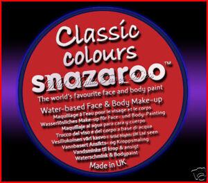 SNAZAROO 50 FACE PAINT 18ML POT BRIGHT RED