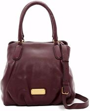 $448 NWT Marc Jacobs New Women's Q Fran Leather Satchel Handbag DARK WINE