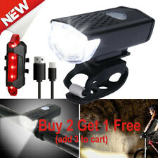 90000Lumen USB Rechargeable Cycling Light Bike Bicycle LED Front Rear Lamp Set