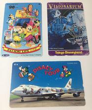 Tokyo Disneyland Vintage Phone Cards Used Lot Of 3 - (7223)