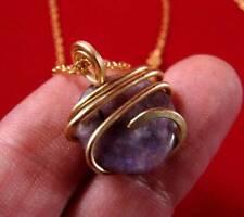 Grape Purple Russian Chaorite Pendant Bronze Merlin's Gold #24