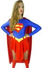 Supergirl Super Girl Woman Superwoman Fancy Dress Costume - 8 10 12 14 16 18