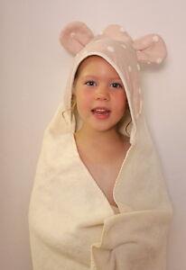Eco Baby Hooded Towel - 100% Organic Cotton & Dye