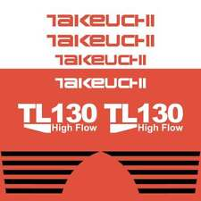 Takeuchi TL130 Decals Stickers Takeuchi Loader Repro Decal Kit