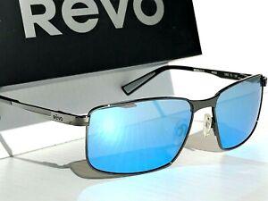 NEW Revo KNOX Gunmetal POLARIZED Blue Water Glass Lens Sunglass 1047 00 BL
