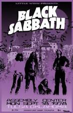 NEW BLACK SABBATH - ASSEMBLY CENTER SEPT 18 1978 TULSA OK Rock Concert Poster