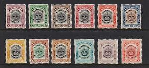 Labuan - 1902 set, mint, cat. $ 98.50