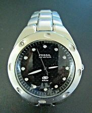 Fossil Blue Watch 100 Meter Water Resistant Stainless Steel-Chunky & Stunning
