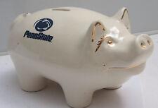 "Pig Bank Penn State 9"" Long Ceramic Piggy Nittany Lion Head Logo USED C22D"