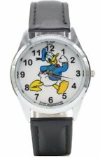 Donald Duck Black Genuine Leather Band Wrist Watch