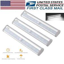 10 LED Light Bar Battery Operated Motion Sensor Detector Night Light 3PACK