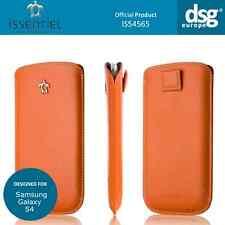 Issentiel Paris - Genuine Leather Pouch Case for Samsung Galaxy S4 - Orange