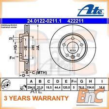 2x ATE REAR BRAKE DISC VW OEM 24012202111 7H0615601B