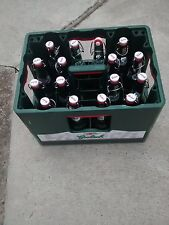 16 x 450ml empty Grolsch swing top bottles and crate/ Ideal for home brew