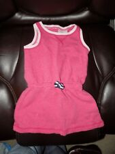Hanna Andersson Pink French Terry Dress Size 90 Girl's Euc