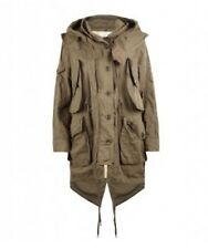 all saints Coat Hooded Parka Removable Jacket Brown XS/0