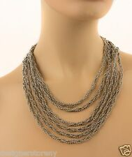 SG Sergio Gutierrez Liquid Metal Silver Nickel Mesh Collar Chain Necklace N20