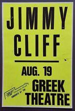 JIMMY CLIFF Original REGGAE Promo Concert Poster LA 1988 Peter Tosh BOB MARLEY