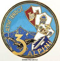 """Alpini 3° """"Altius Tendo!"""" riproduzione anni 1950/1960 dist. produttore anonimo"""