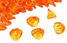 12 Sunshine Dust Three Petal Glass Flower Beads 12MM
