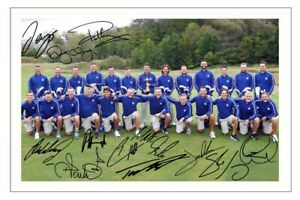 EUROPE 2021 Team Signed Autograph PHOTO Fan Gift Signature Print RYDER CUP Golf