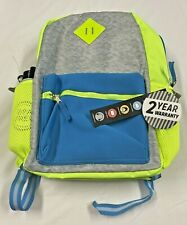 New Unisex Kid's Backpack with Lunch Bag, Water bottle and Headphones - Neon