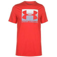 Under Armour Boxed Logo T-Shirt Large Red  -Free Postage-