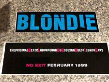 "Blondie ""No Exit� Album Promotional Stickers 1999"