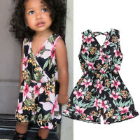Toddler Baby Girl Kid Romper Bodysuit Jumpsuit Shorts Playsuit Outfit Clothes US