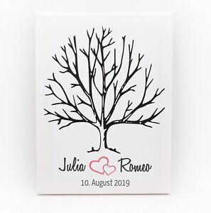 Hochzeitsbaum Fingerabdruck Leinwand, Gästebuch Hochzeit, Wedding Tree, Geschenk