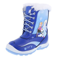 DISNEY FROZEN ELSA & ANNA Waterproof Insulated Snow Boots Youth/Girls Size 2 NWT