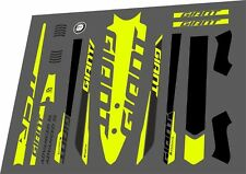 GIANT TCR Advanced SL 2016 Frame Sticker Decal Adhesive Vinyl Set Lime Green