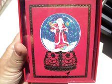 NIB Papyrus Christmas Cards-Gold Foil Santa Snowglobe 20 count