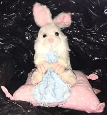 Giftco Bunny Rabbit On Pillow With Blankie Easter