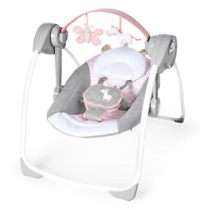 Ingenuity Swing Baby/Infant Swing/Rocker Chair 0m+ w/ Toys Audrey PS Update Pink
