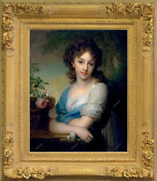 Old Master Art Portrait Woman Lady Elena Oil Painting on Canvas 24x30