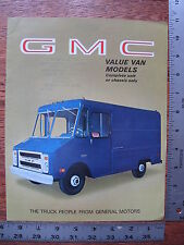 1969 69 GMC Commercial Truck Value Cube Van Delivery Food  Dealer Sales Brochure