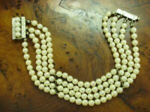 Akoya-Pearls Bracelet With 14kt Weißold Clasp & 835 Silver Zwischenplatten