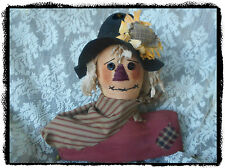 Primitive Handmade*Scarecrow* Stump Doll with Sunflower`on Hat* Fall Halloween`
