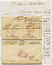 GB to PORTUGAL 1847 LETTER CHARING CROSS MX TYPE PAID to PINTO LEITE