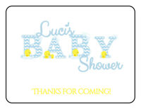 30 Gift Tags Blue Boy Baby Shower Favor Tags Custom Personalized Yellow Duck