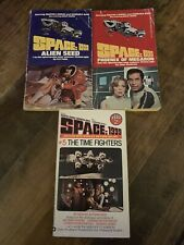 Lot of 3 Space:1999, Tv Tie-In, Martin Landeu, Pb Sci-Fi- Books 1976 1977