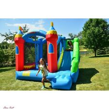 Inflatable Bounce House Playhouse For Kids Outdoor Royal Palace With Slide New