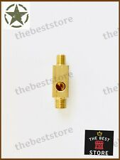 NEW MILITARY WILLYS JEEP FORD BRASS MADE 3 WAY OIL PRESSURE T - PIECE 53mm