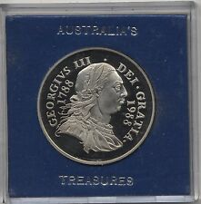 1788-1988 Australia's Treasures Numismatic History Cased Medal***Collectors***
