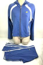 Nike Womens Sz S Hooded Jacket And Pants 2 Piece Periwinkle White