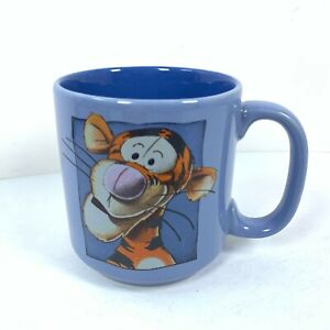 "Disney Tigger Coffee Mug Tea Cup Sky Blue 5""  12oz Winnie The Pooh Collectible"